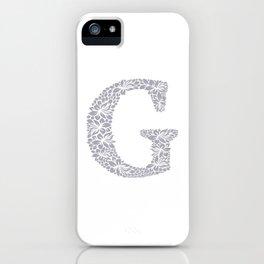 Floral Letter G iPhone Case