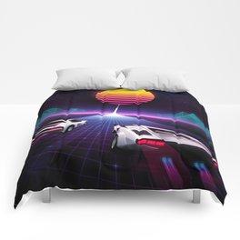 Neon Skyway Comforters