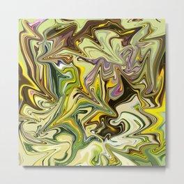 Abstract liquid colors Metal Print