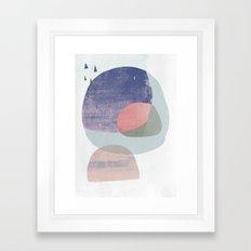 04 circles and tri purple Framed Art Print