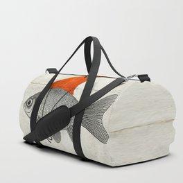 Goldfish with a Shark Fin Duffle Bag