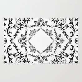 Abstract black ornament Rug
