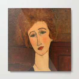 "Amedeo Modigliani ""Portrait of a woman"" Metal Print"
