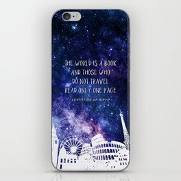 The world is a book iPhone Skin