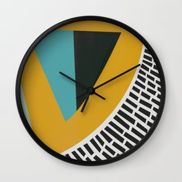 Mustard Citrus Abstract Wall Clock