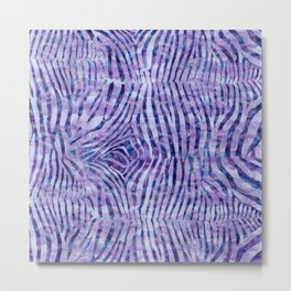 Purple Zebra Print Metal Print