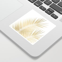 Gold Palm Leaves Dream - Cali Summer Vibes #1 #tropical #decor #art #society6 Sticker
