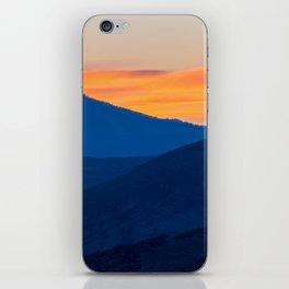 Utah Landscape Photography Sunset Mountains Print iPhone Skin