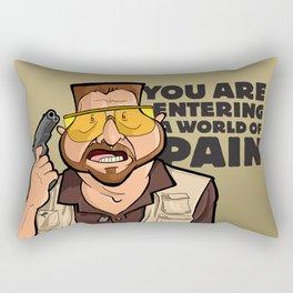 A World of Pain Rectangular Pillow