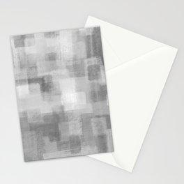 Grey Blocks Stationery Cards