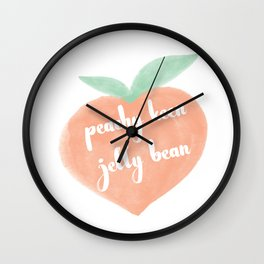 Peachy Keen Jelly Bean Wall Clock