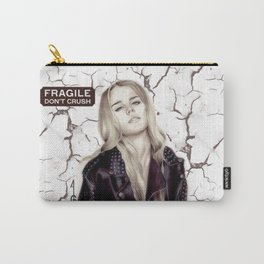 Fragile, don't crush  (black and white FANART) Carry-All Pouch