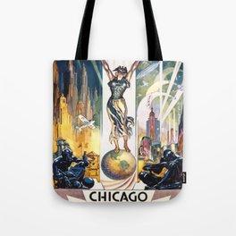 Vintage World's Fair Chicago 1933 Tote Bag