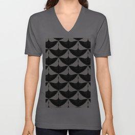 CRANE DESIGN - pattern - Black and White Unisex V-Ausschnitt