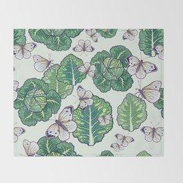 butterflies in the garden Throw Blanket