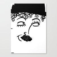 chaplin Canvas Prints featuring Chaplin  by Sardine