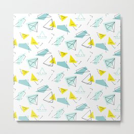 Mint geometry Metal Print