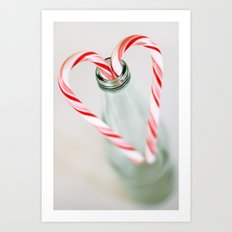 candy canes Art Print