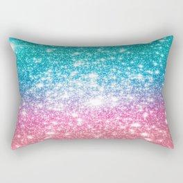 Mermaid Galaxy Sparkle Stars Rectangular Pillow