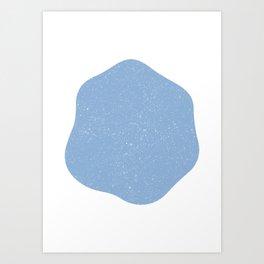 Blop Blue Art Print