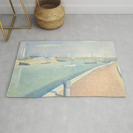 The Channel of Gravelines, Georges Seurat Rug