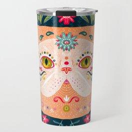 Candied Sugar Skull Kitty Travel Mug