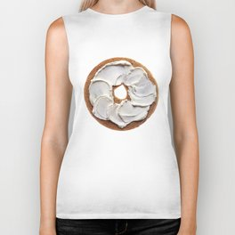 Bagel with Cream Cheese Biker Tank