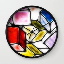 Fractalius cubes Wall Clock