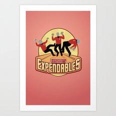 Redshirt Expendables Art Print