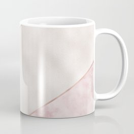 Spliced mixed pink marble and rose gold Coffee Mug