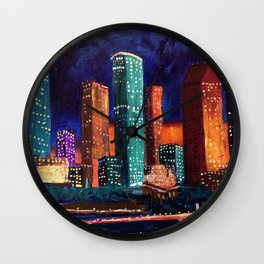 Expression Houston Wall Clock