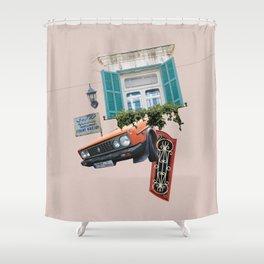 Psychedelic Gemmayzeh - Beirut  Shower Curtain
