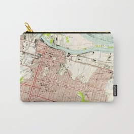 Vintage Map of Savannah Georgia (1955) Carry-All Pouch