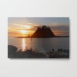 An Amazing Sunset Over First Beach Metal Print