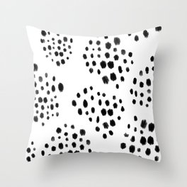Neutral Abstract Dots Pattern Throw Pillow