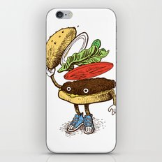 Burger Greeting iPhone & iPod Skin