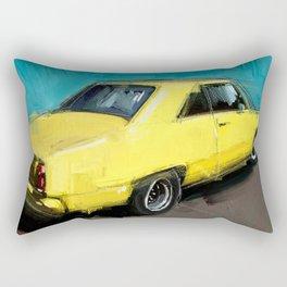 yellow datsun Rectangular Pillow