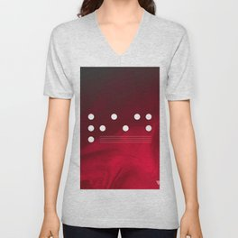 Red Abstract Passion Unisex V-Neck