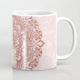 Mandala on concrete - rose gold Coffee Mug
