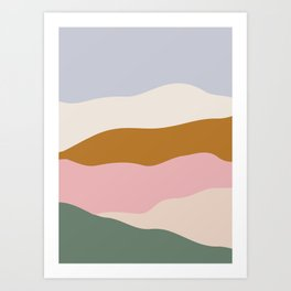 Color Block Fields Art Print