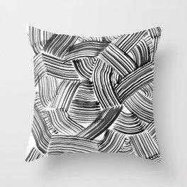 Tangled Brushstrokes Throw Pillow