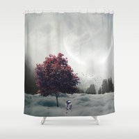 r2d2 Shower Curtains featuring R2D2 by Naelito