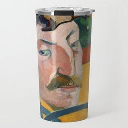 "Paul Gauguin ""Self-Portrait with Halo and Snake"" Travel Mug"
