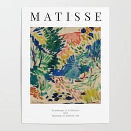 Landscape at Collioure - Henri Matisse - Exhibition Poster Poster