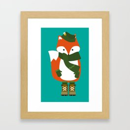 Winter Fox Framed Art Print