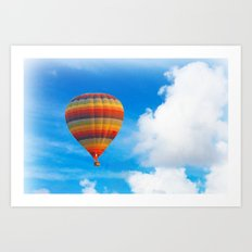 Colorful hot air balloon Art Print