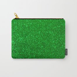 Emerald Green Shiny Metallic Glitter Carry-All Pouch