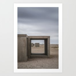 Donald Judd's Box Sculptures at The Foundation in Marfa, Texas Art Print