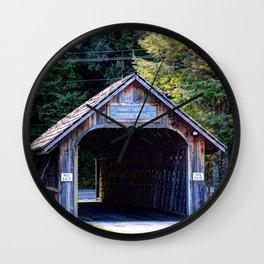 Will Henry Stevens Covered Bridge Wall Clock