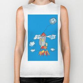Rocket to the Moon Biker Tank